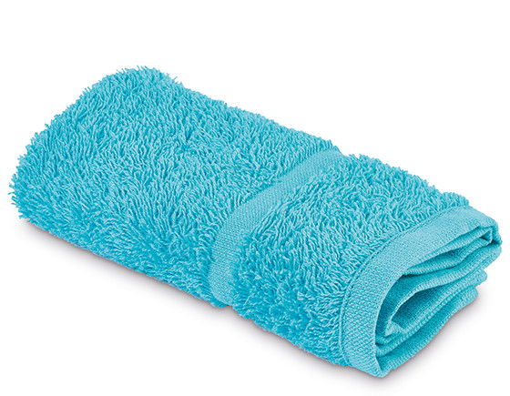 Comfy towelling face cloth, turquoise