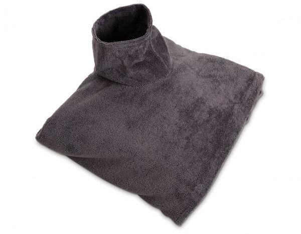 SupremeSoft jumbo sheet with face hole, Slate Grey