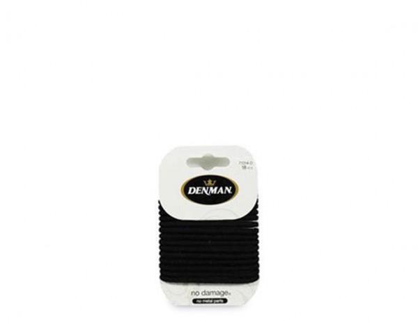 Denman no damage elastics, black 4mm (18)