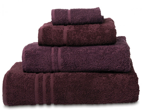Comfy towelling face cloth, aubergine