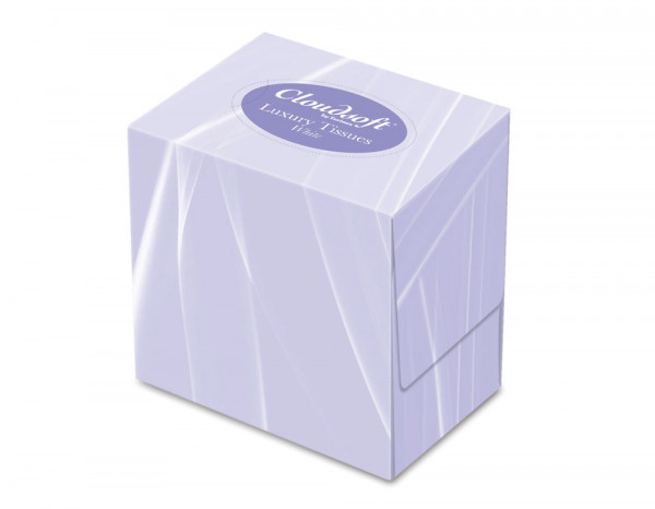 Cloudsoft cube facial tissues, 2 ply (70)