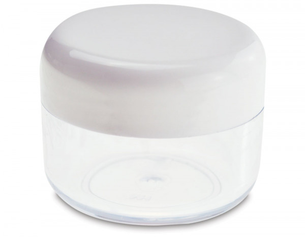 Clear jar and lid 15g
