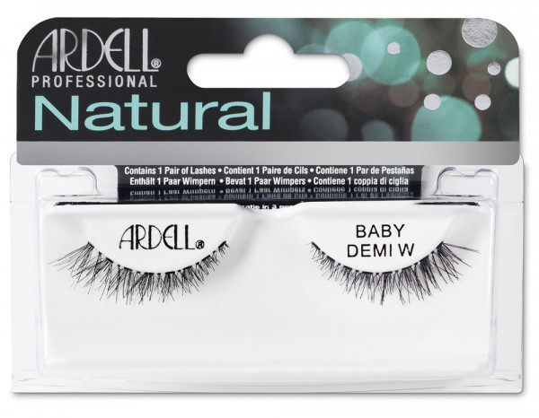 Ardell natural lashes black, baby demi wispies