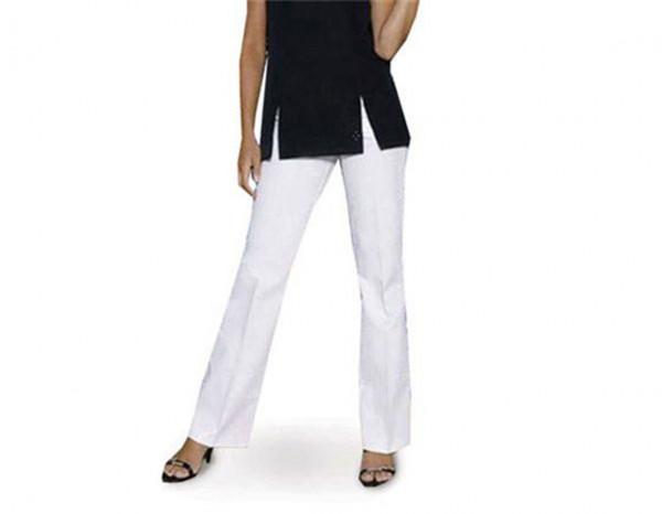 Bootleg trousers pontella, white size 16