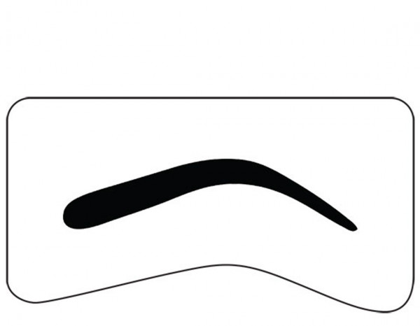 Mistair professional brow template, normal arch