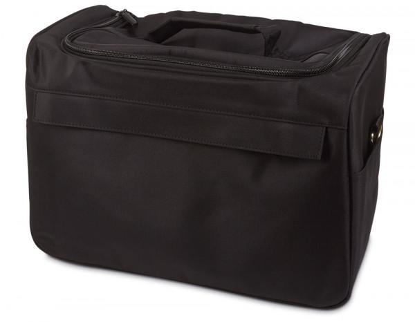 Hair bag with shoulder strap, black