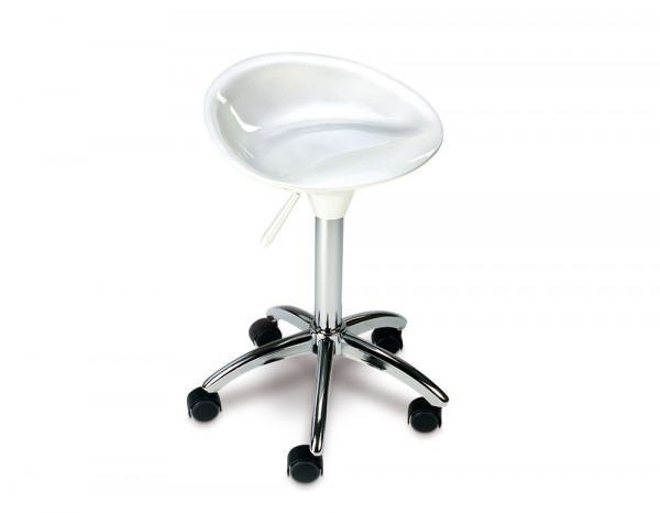 Esthetix space stool, white