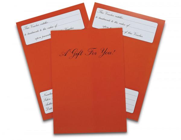 Gift vouchers, orange (10)