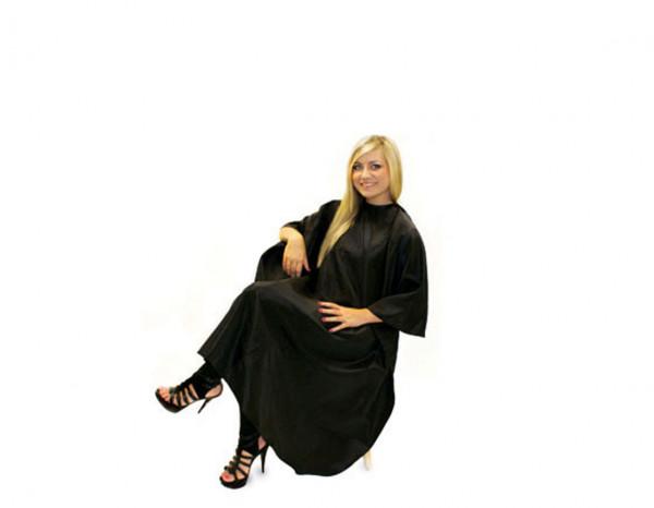 Hair Tools gown unisex black stud fastening