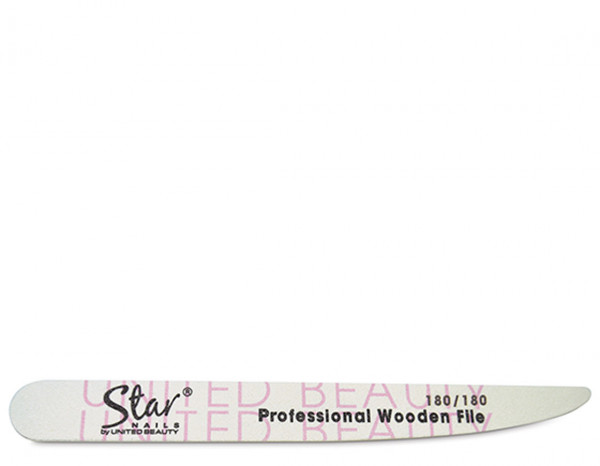 Star Nails tapered wooden file, 180/180 grit(6)