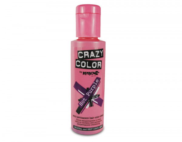 Crazy Color 100ml, 62 hot purple
