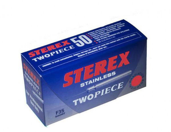 Sterex needles two piece F4S short (50)