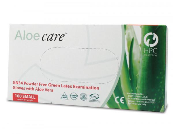 Aloecare latex gloves small (100)