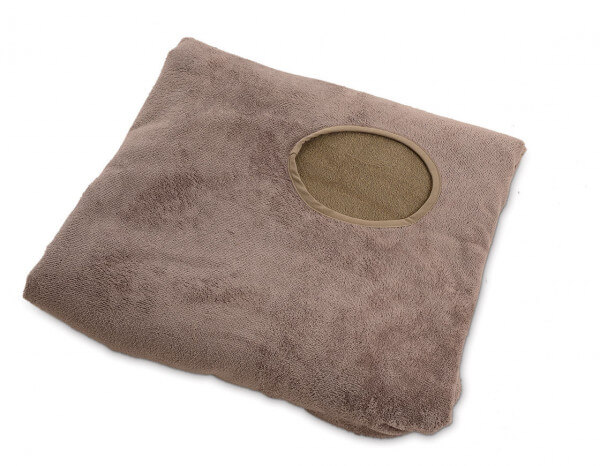 SupremeSoft couch cover with face hole, Pebble