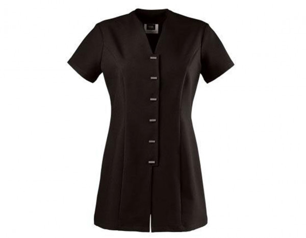 Front fastening tunic, black size 12