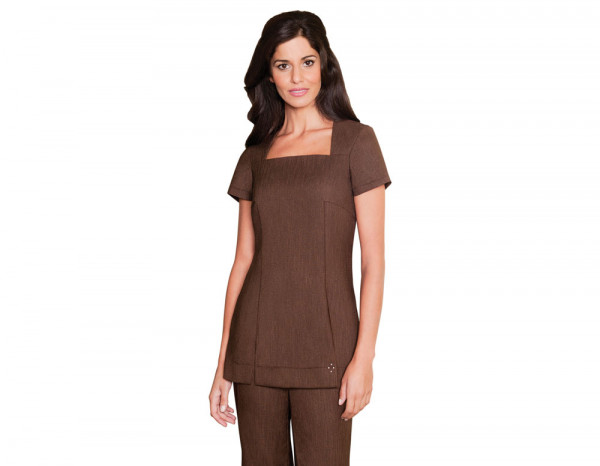 Shannon tunic linen look, brown size 22