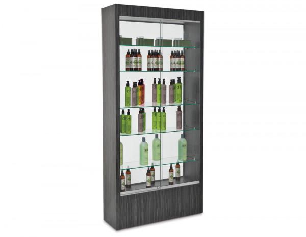 REM Quartz glass retail unit, glass back