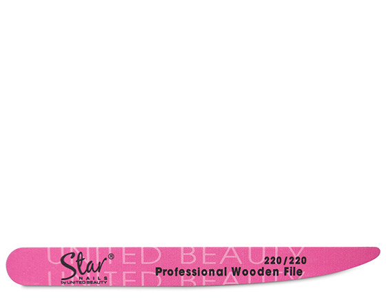 Star Nails tapered wooden file, 220/220 grit(12)