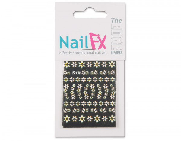 The Edge 3D nail art stickers, yellow flowers