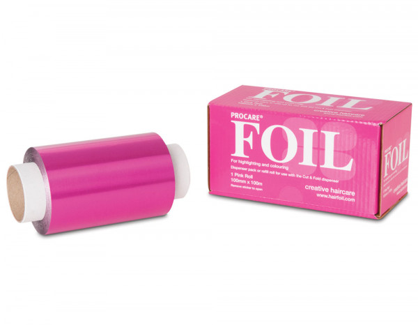 Procare foil, pink 100mm x 100m