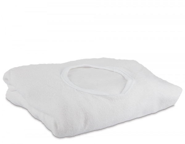 Aztex couch cover with facehole, white