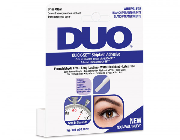 DUO quick set striplash 5g, white/clear