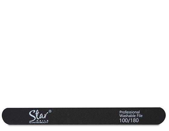 Star Nails black foam file, 100/180 grit(12)