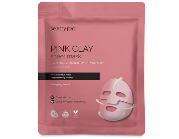 BeautyPro pink clay mask