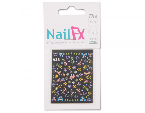 The Edge 3D nail art stickers flowers, multi