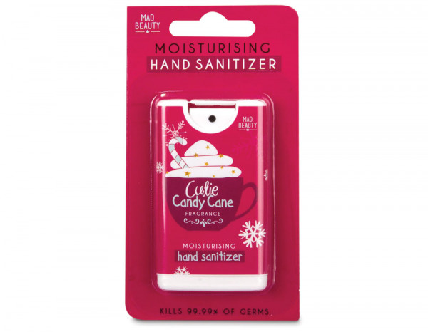 Mad sanitizer cups red, Candy Cane