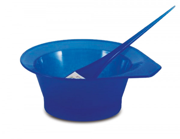 Comby tint bowl and brush, neon blue