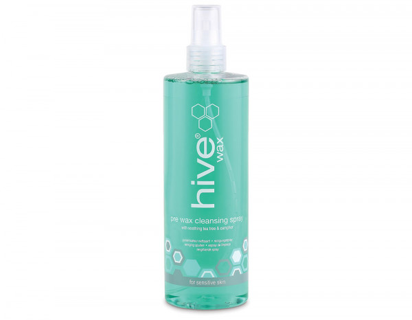Hive pre wax cleansing spray, tea tree oil 400ml