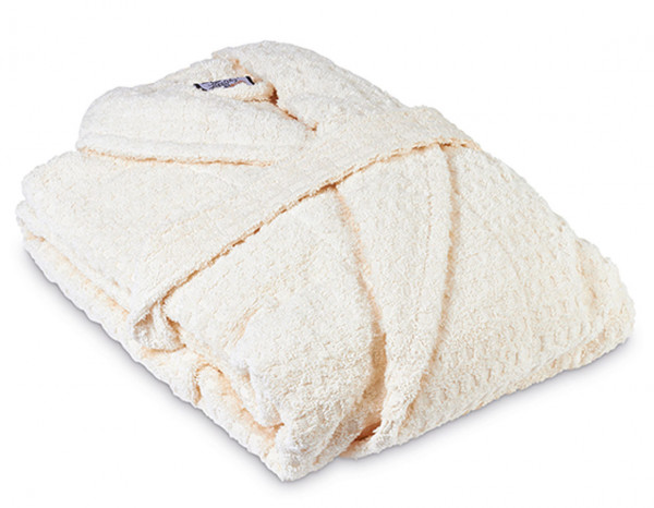 Sumptuous bathrobe small, ivory