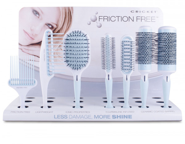 Cricket Friction Free brush/comb display(21 piece)
