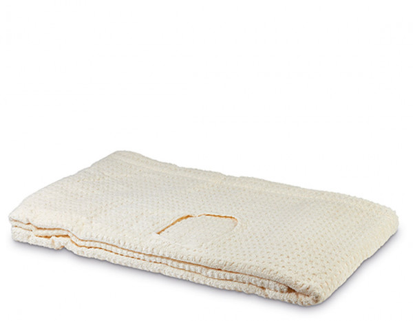 Serenity couch cover with face hole, ivory