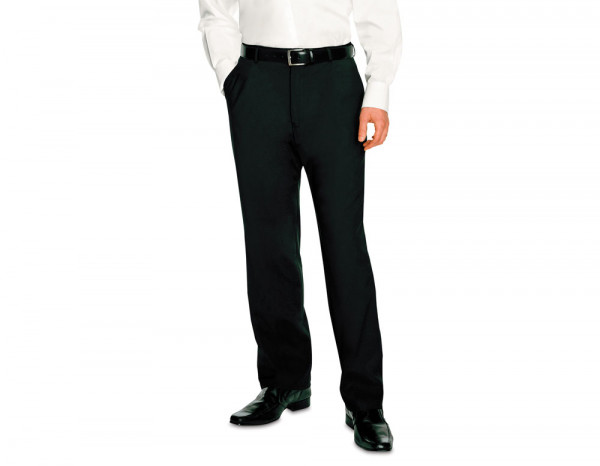 Mens flat fronted trousers, black size 30