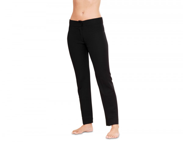 Narrow leg trousers pontella, black size 6