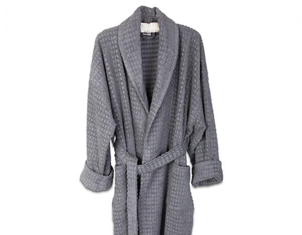 Healthy bathrobe XL, slate grey