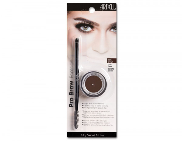 Ardell brow pomade with brush, dark brown